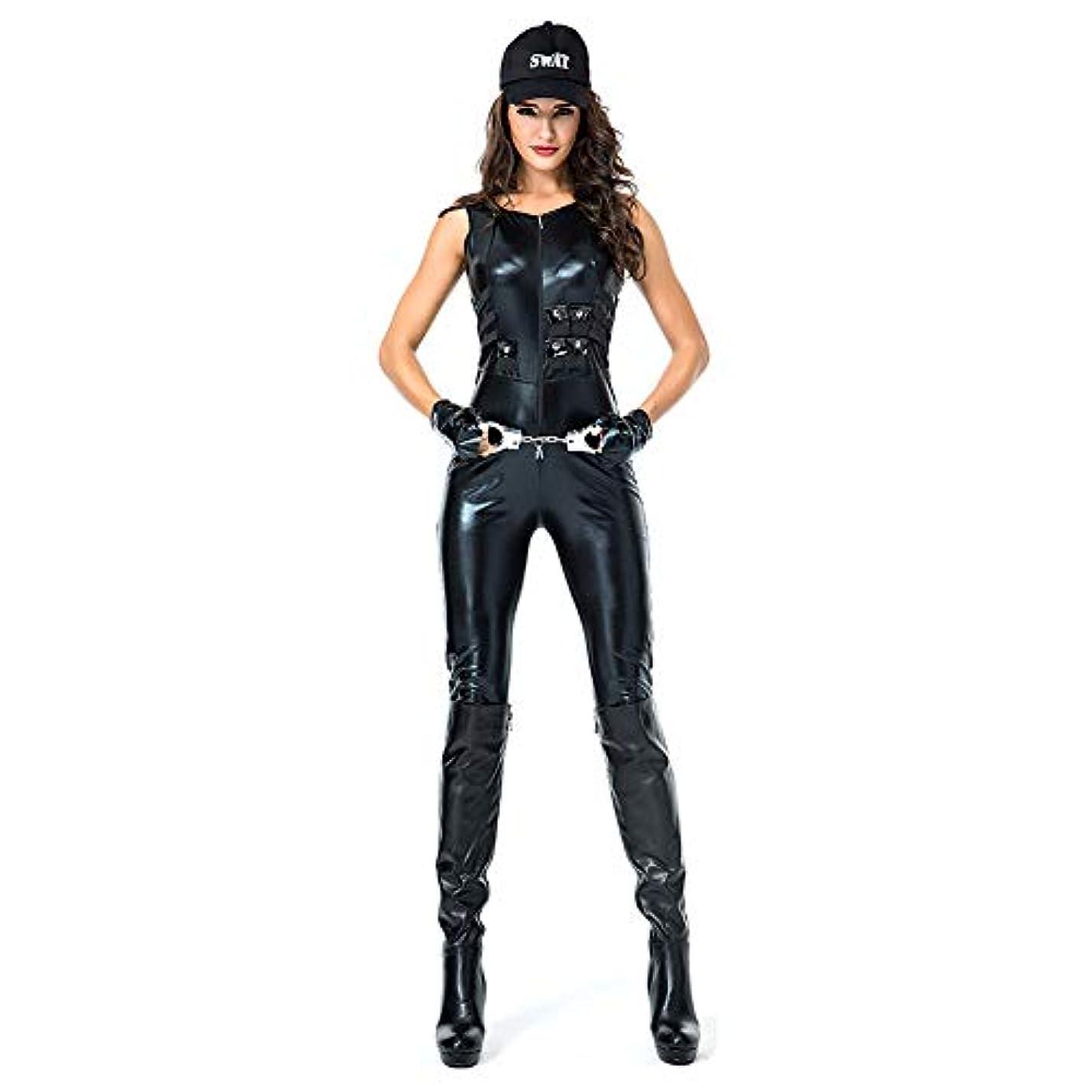 ダースサイト摩擦mrcos ハロウィン コスプレ 女性警察 警察 コスプレ 衣装 女性用 仮装 婦人警官 コスプレ police 婦警 警察 ポリス コスチュームセクシー 手錠付き XL