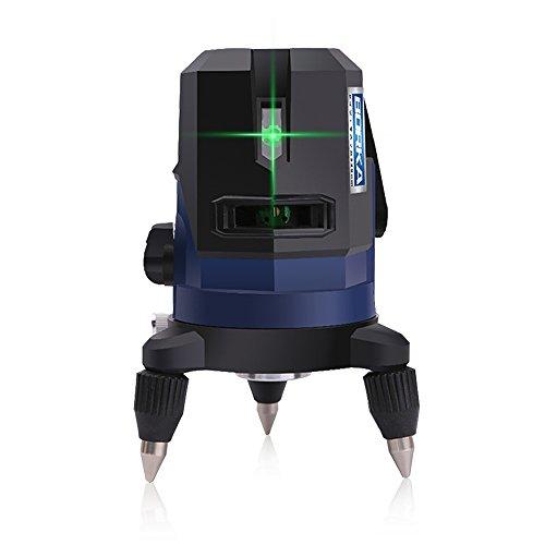 BORKA5ライングリーンレーザー墨出し器 5線6点 強化ポイント付き 斜線機能 高輝度 日本語説明書 1年品質保証 (ブルー)