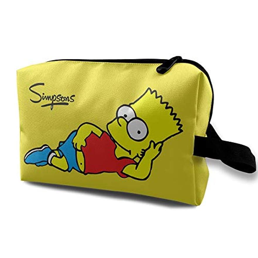 シェア精神的にむき出しDSM_LXHZB 化粧ポーチ レディース 多機能コスメポーチ メイクポーチ 化粧バッグ シンプソンズ Simpsons 化粧品 コスメ収納 小物入れ 便利 コスメポーチ 旅行用 収納ケース バスルームポーチ 化粧ポーチ