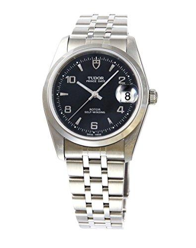 [チュードル]Tudor 腕時計 プリンス デイト ブラックダイヤル アラビアインデックス 自動巻き 74000BK5AR メンズ 【並行輸入品】