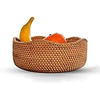 SLH 籐のフルーツバスケットリビングルームのスナックテーブルトップボックスキッチン収納バスケット