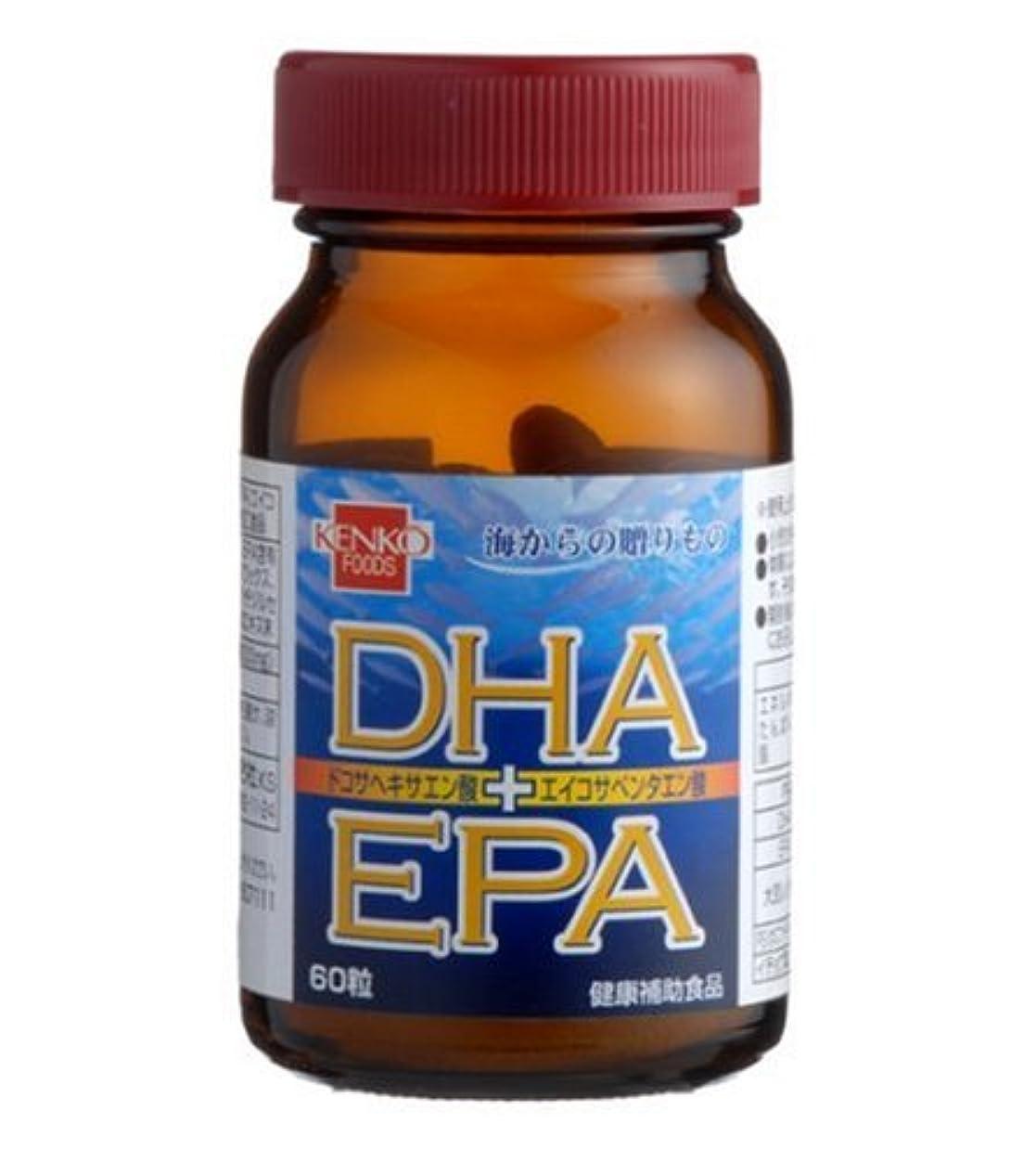 平らな聖人左健康フーズ DHA+EPA 60粒
