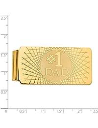 14 K黄色ゴールドお金クリップ