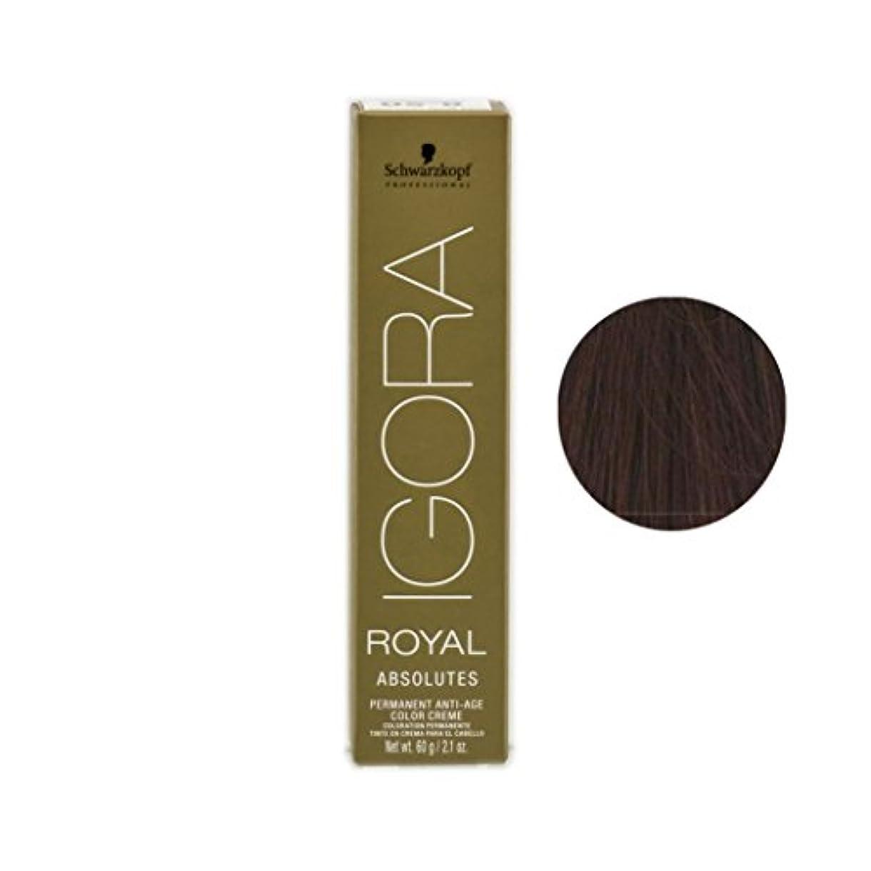 フェード少ない北米Schwarzkopf プロフェッショナルIGORAロイヤルアブソリュート髪の色、 2.1オンス 5-70、ライトブラウン銅netural