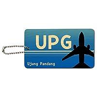 インドネシアウジュンパンダン(UPG)空港コードウッドIDカード荷物タグ