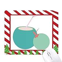 タイココナッツジュースのアートの図 ゴムクリスマスキャンディマウスパッド