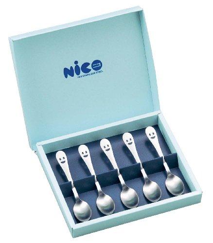 ワダコーポレーション 〈nico〉ニコ コーヒースプーン 5pcs