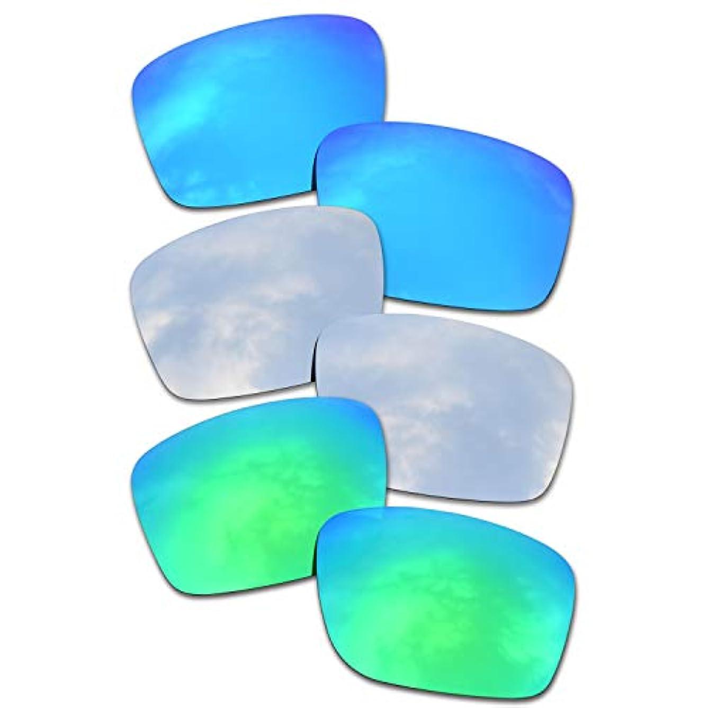 提供された男性マカダムSOODASE 為に Oakley Mainlink サングラス ブルー/ぎんいろ/グリーン 偏光交換使用するレンズ