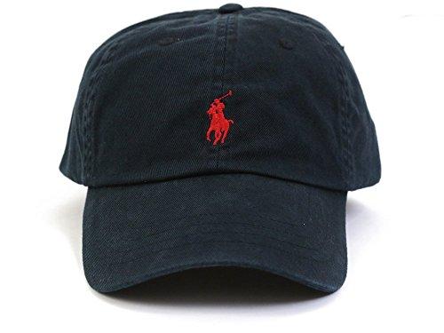 (ポロ ラルフローレン)POLO Ralph Lauren キャップ CAP 帽子 メンズ レディース PONY ポニー ワンポイント[並行輸入品] ブラック×レッド -