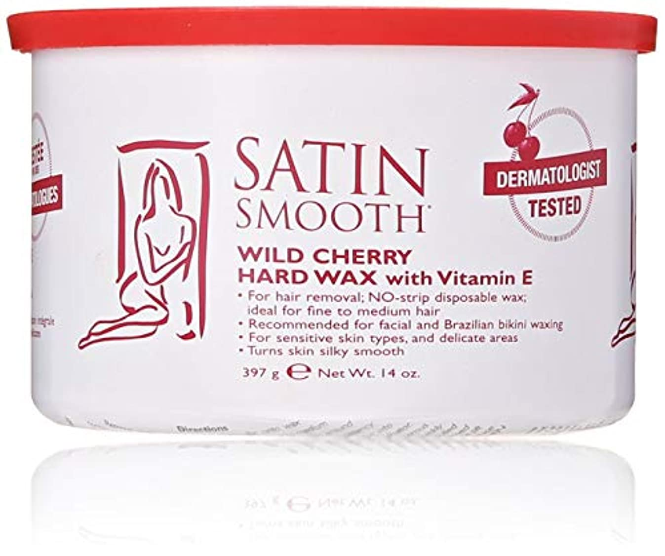 磁器教えクリスマスSatin Smooth Wild Cherry Hard Wax with Vitamin E, 14 oz. 141[並行輸入]