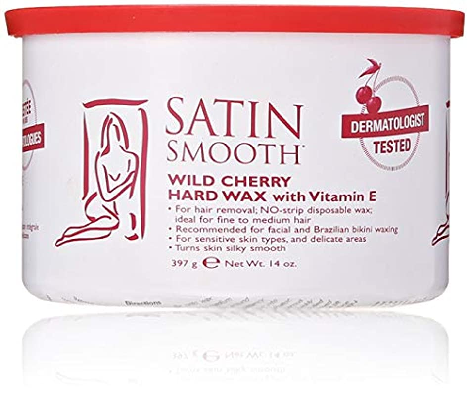 勝利性別作詞家Satin Smooth Wild Cherry Hard Wax with Vitamin E, 14 oz. 141[並行輸入]