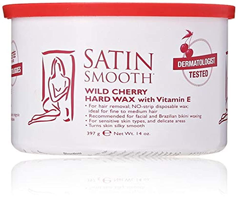近代化休眠現実にはSatin Smooth Wild Cherry Hard Wax with Vitamin E, 14 oz. 141[並行輸入]
