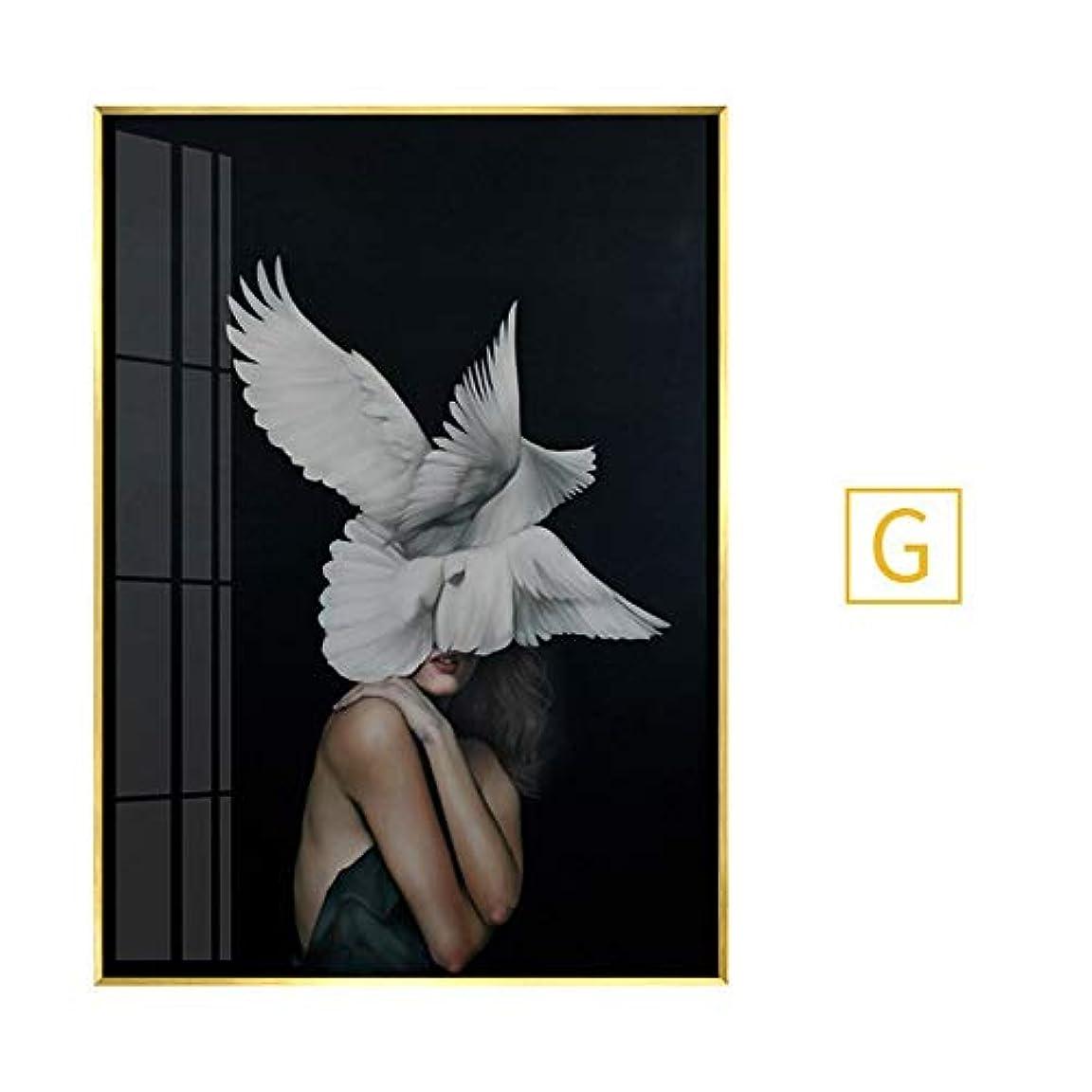 スキーム人に関する限りバレエ木製フォトフレーム フォトフレーム6 x 4フレームローズゴールドウォールアート銅フォトフレーム風景フォトフレームフォトフレームガラス シングルフォトフレーム (Color : G, Size : 60X80 (PS frame))