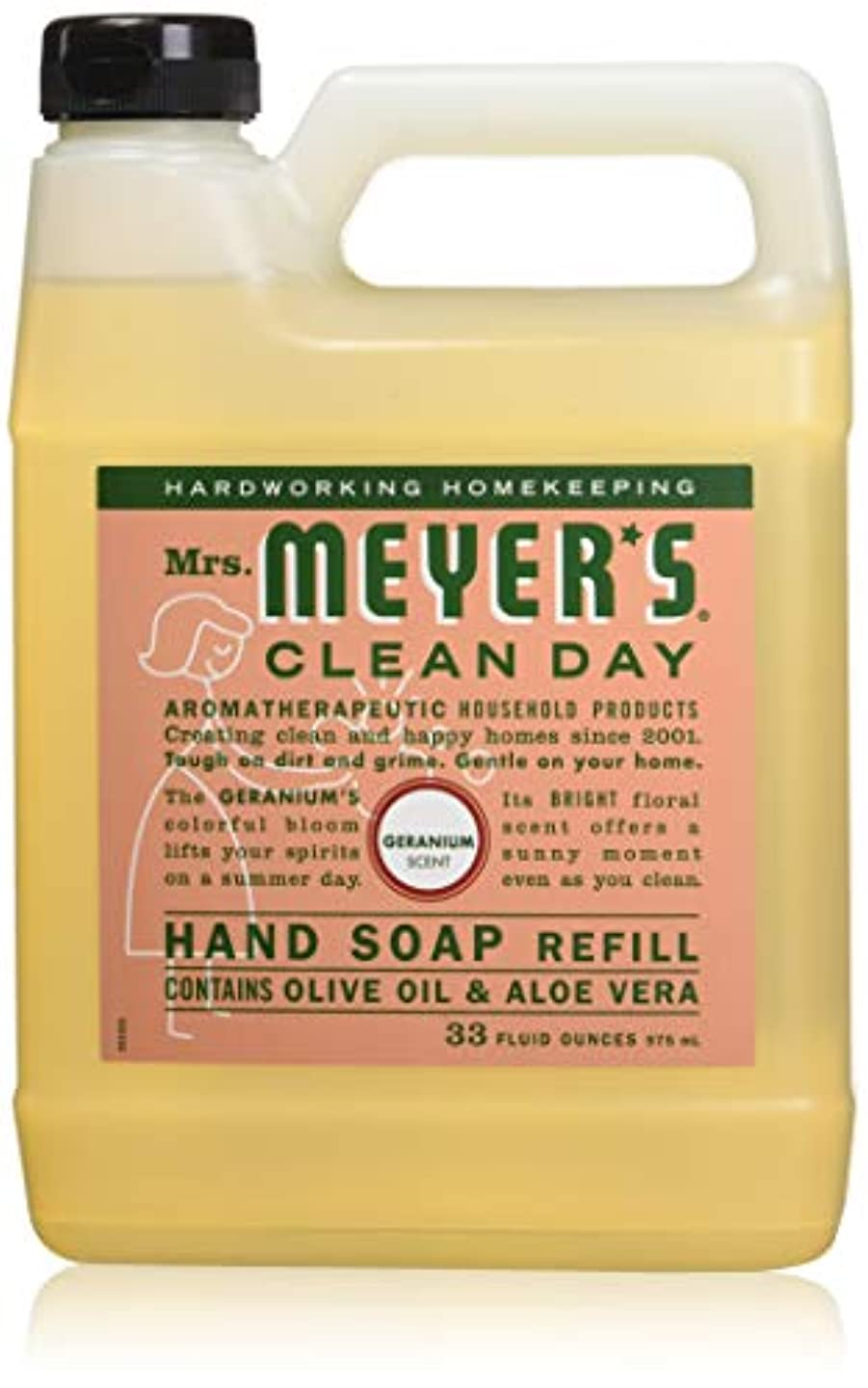 拡声器薬天使Mrs. Meyer's: Liquid Hand Soap Refill Jug-Geranium, 33 oz by Mrs. Meyers Clean Day