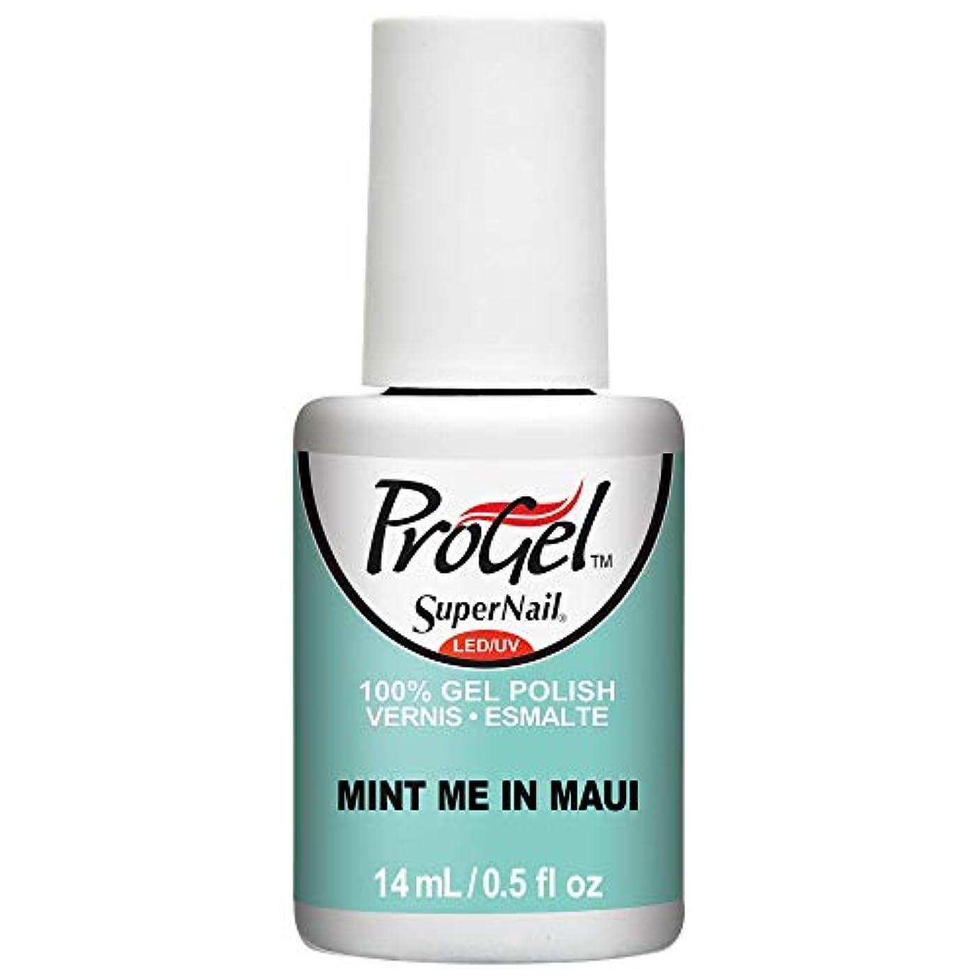 大工くちばしチャームSuperNail ProGel Gel Polish - Mint Me in Maui - 0.5oz / 14ml