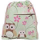 Bobble Art Drawstring Bag Owl