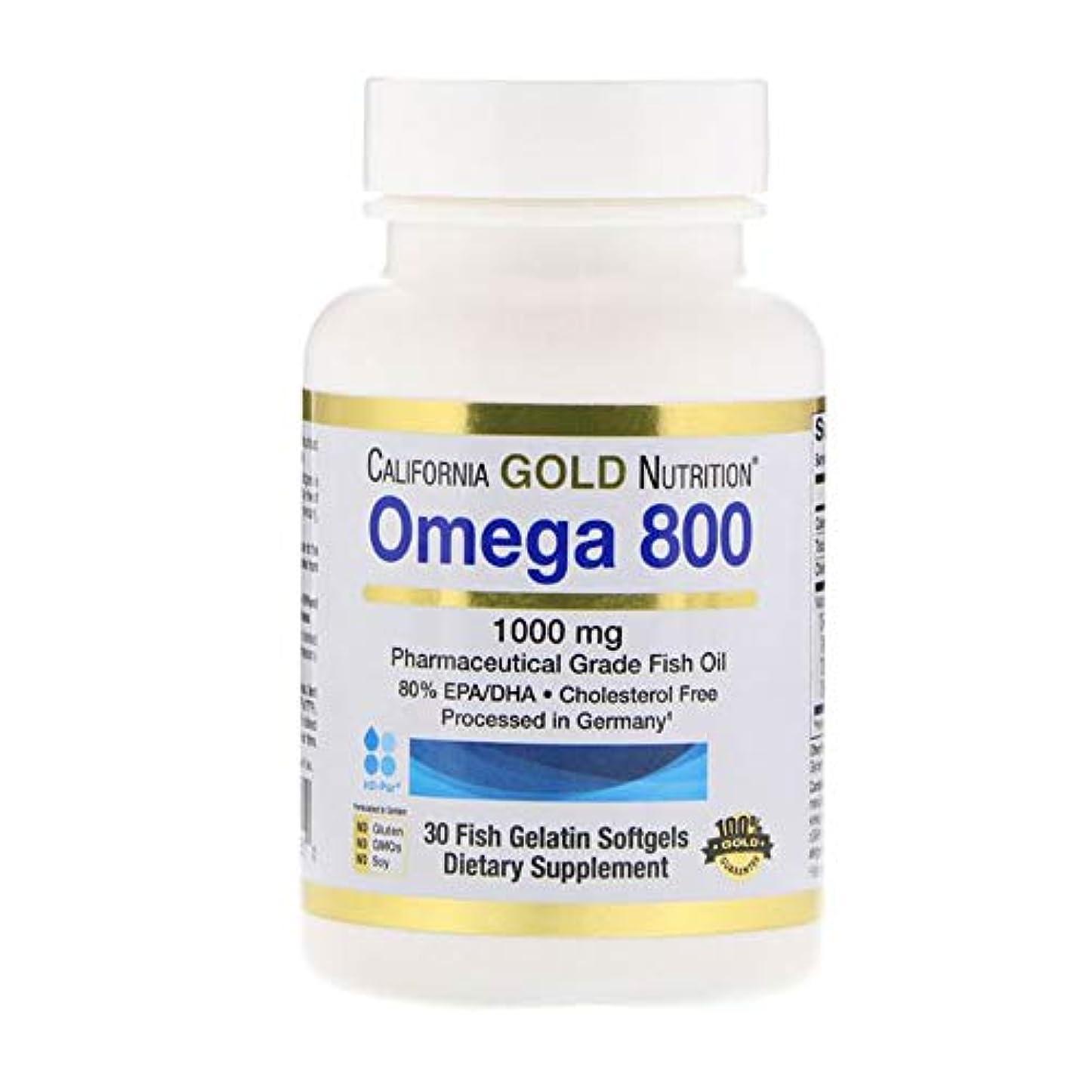 スリンクレンディション言語学California Gold Nutrition オメガ 800 80% EPA DHA 1000mg 30個 【アメリカ直送】