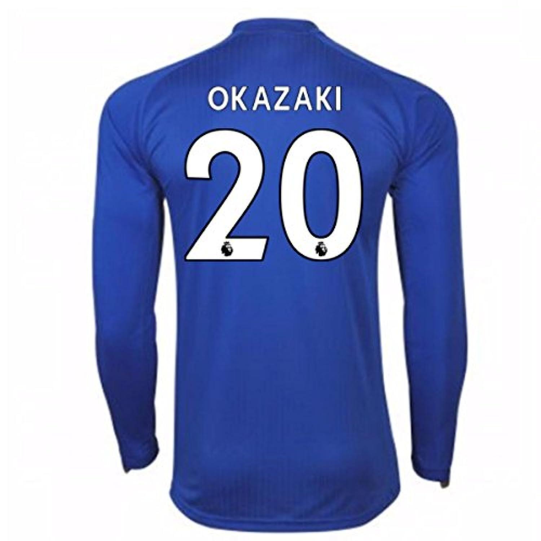 2017-18 Leicester City Home Long Sleeve Shirt (Okazaki 20)