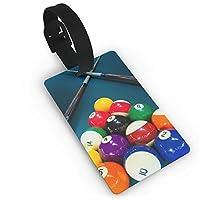 荷物タグ、旅行に欠かせない、バッグのラベル Lan yu peng Luggage Tags With Hand Strap Durable Billiards Play Travel Suitcase Bag Tag Identify Label