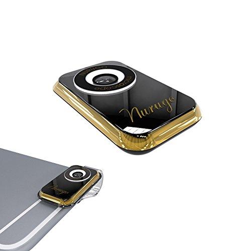 新型 iミクロン スマホ用顕微鏡 倍率400倍 クリップで簡単取り付け iPhone/iPad/スマートフォン (ゴールド×クリア)