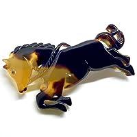 天然工房 べっこう屋さん 本べっ甲 ブローチ バラフ 馬 Horse モチーフ 290126-B10