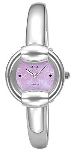 [グッチ]GUCCI 腕時計 1400 ピンクパール文字盤 Y...