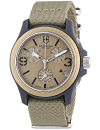 ビクトリノックス Victorinox Swiss Army Unisex 241533 Original Chronograph Beige Nylon Strap Watch 男性 メンズ 腕時計 【並行輸入品】