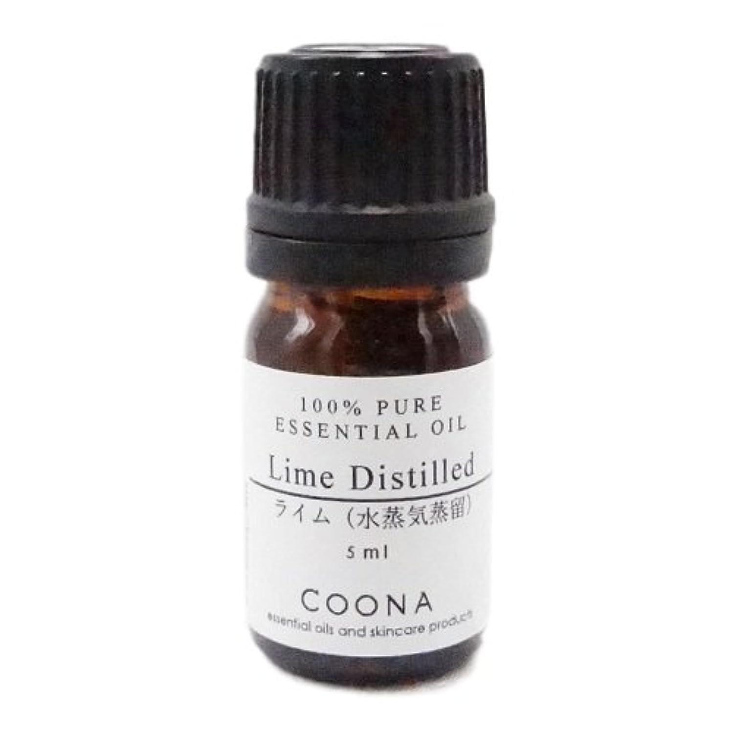 一貫性のない月曜ストレスライム 水蒸気蒸留 5 ml (COONA エッセンシャルオイル アロマオイル 100%天然植物精油)