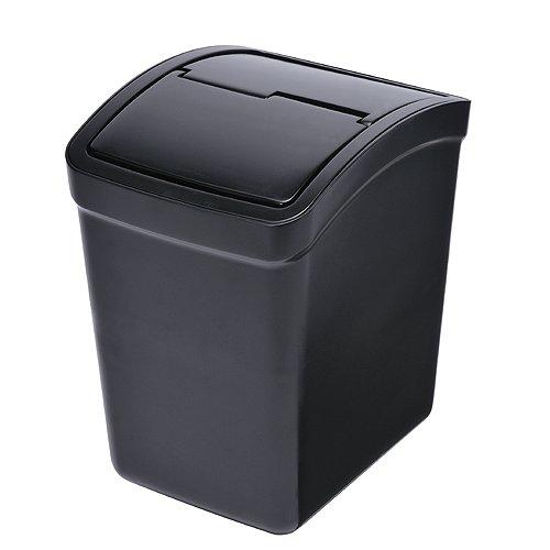 カーメイト 車用 ゴミ箱 L フタ付 ブラック おもり付き ...