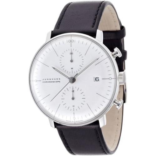 [ユンハンス]JUNGHANS 腕時計 自動巻き マックスビル クロノスコープ 027 4600 00 メンズ 【正規輸入品】