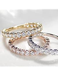ダイヤモンド エタニティリング k18ゴールド ピンキー対応 【豪華 1.0カラット】 選べる3色 【ピンクゴールド】 ハーフエタニティー ダイヤモンドリング (サイズ9.5号) 【ギフトラッピングされています】【品質保証書...