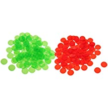 Flameer 200 Pcs Plastic Poker Chips Bingo Board Games Markers Tokens Kids Counting Toy Family Club Party Supplies