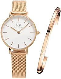【国内正規品】ダニエルウェリントン Daniel Wellington 腕時計 & バングル(スモール) セットモデル Classic PETITE/クラシック ペティット レディース 28mm メッシュベルト DW00100219 DW00400003
