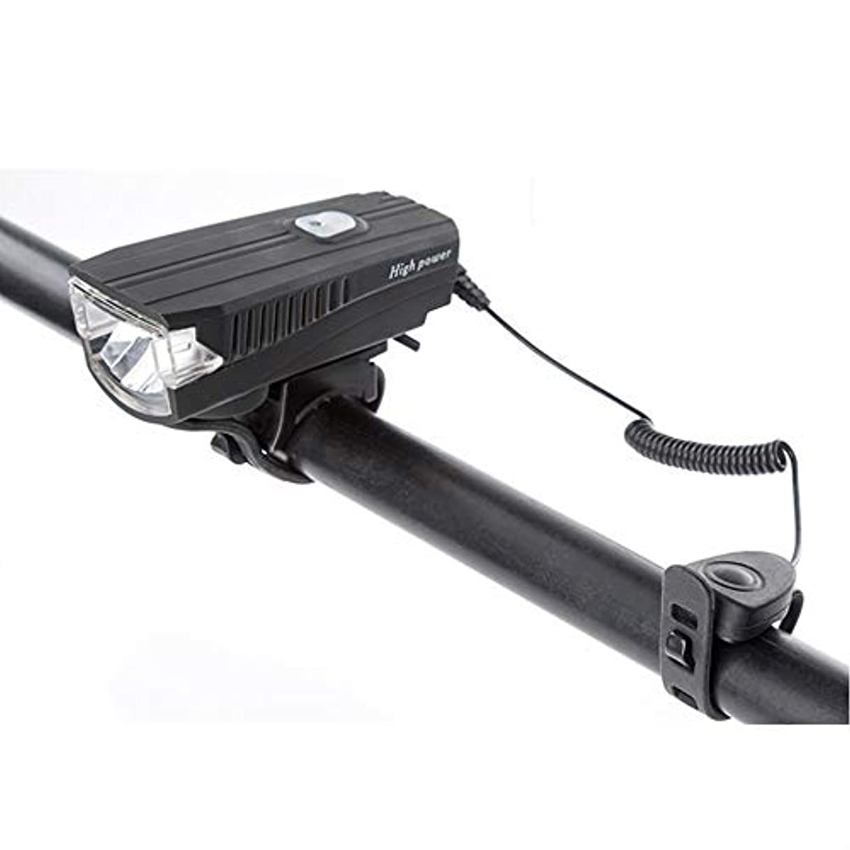ベースくるみ間違いUSB充電式自転車ライト USB充電式自転車ライトセット、350ルーメンパーフェクトコミューターセーフティフロント - ハイデシベルホーン - マウンテン、ロード、キッズ、シティバイクに対応
