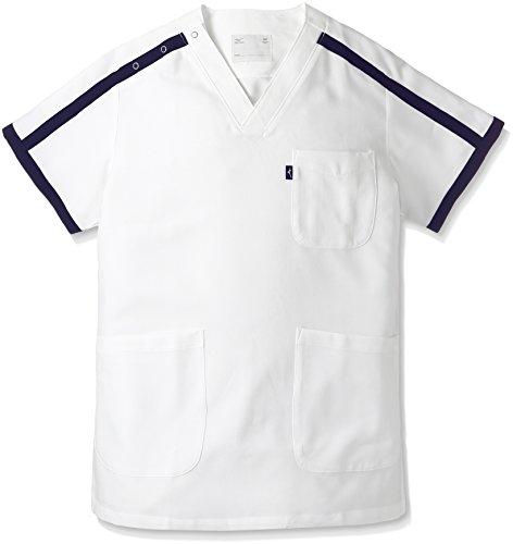 ミズノ ユナイト スクラブ 男女兼用 ホワイト L MZ0090 医療白衣 1枚