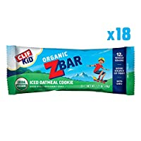 CLIF KID ZBAR - Organic オーガニック Energy Bar - Iced Oatmeal Cookie - (1.27 Ounce Snack Bar, 18 Count) (packaging may vary)