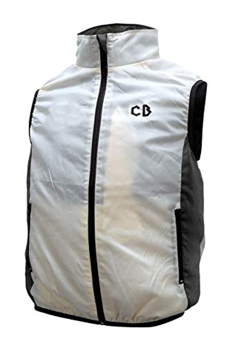二層サイレンアマチュアブレイン(BRAIN) ブレイン 空調ベスト フルセット BR-700 ホワイト M-L