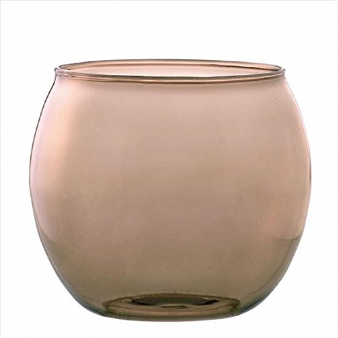 骨アカウント薄汚いカメヤマキャンドル(kameyama candle) スフィアキャンドルホルダー 「 ベージュ 」