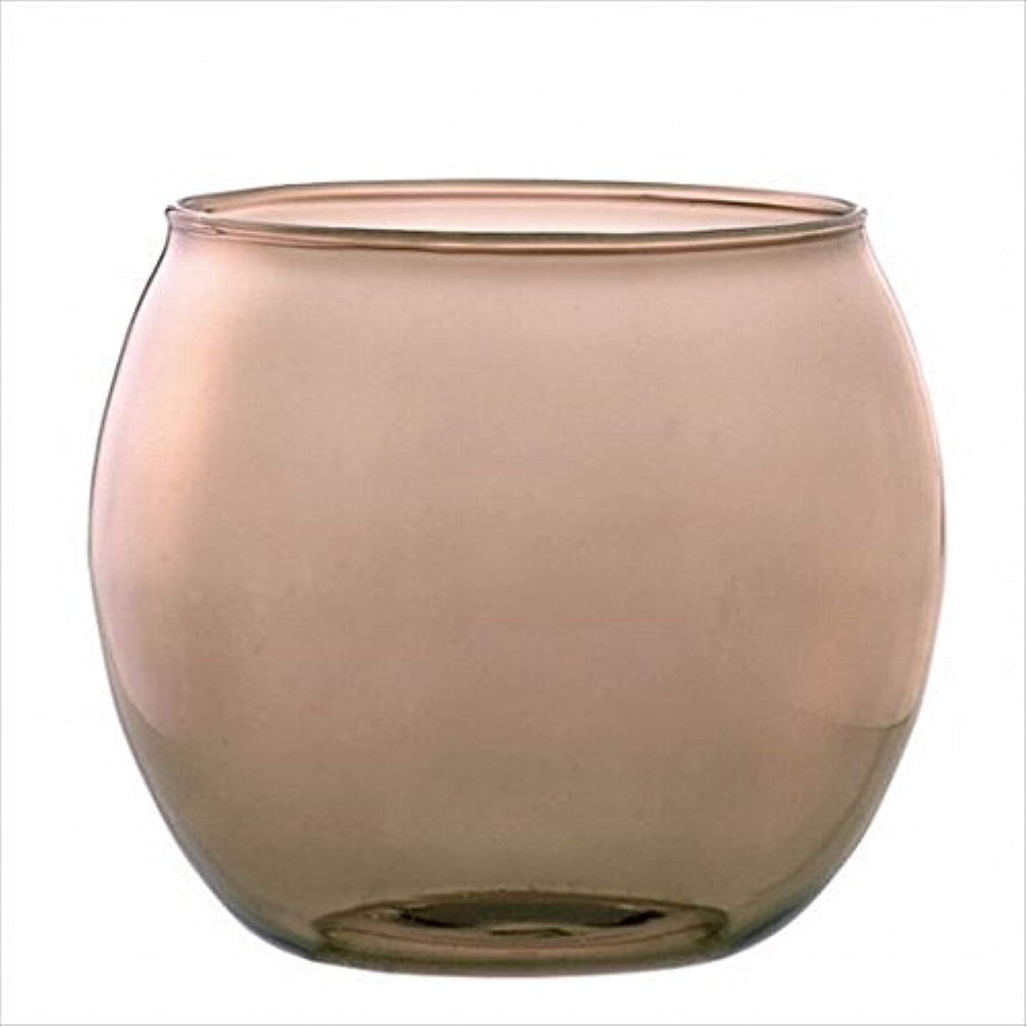 油レオナルドダうがいカメヤマキャンドル(kameyama candle) スフィアキャンドルホルダー 「 ベージュ 」