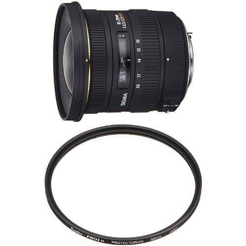 SIGMA 超広角ズームレンズ 10-20mm F3.5 EX DC HSM ペンタックス用 APS-C専用+Kenko レンズフィルター PRO1D プロテクター (W) 82mm レンズ保護用