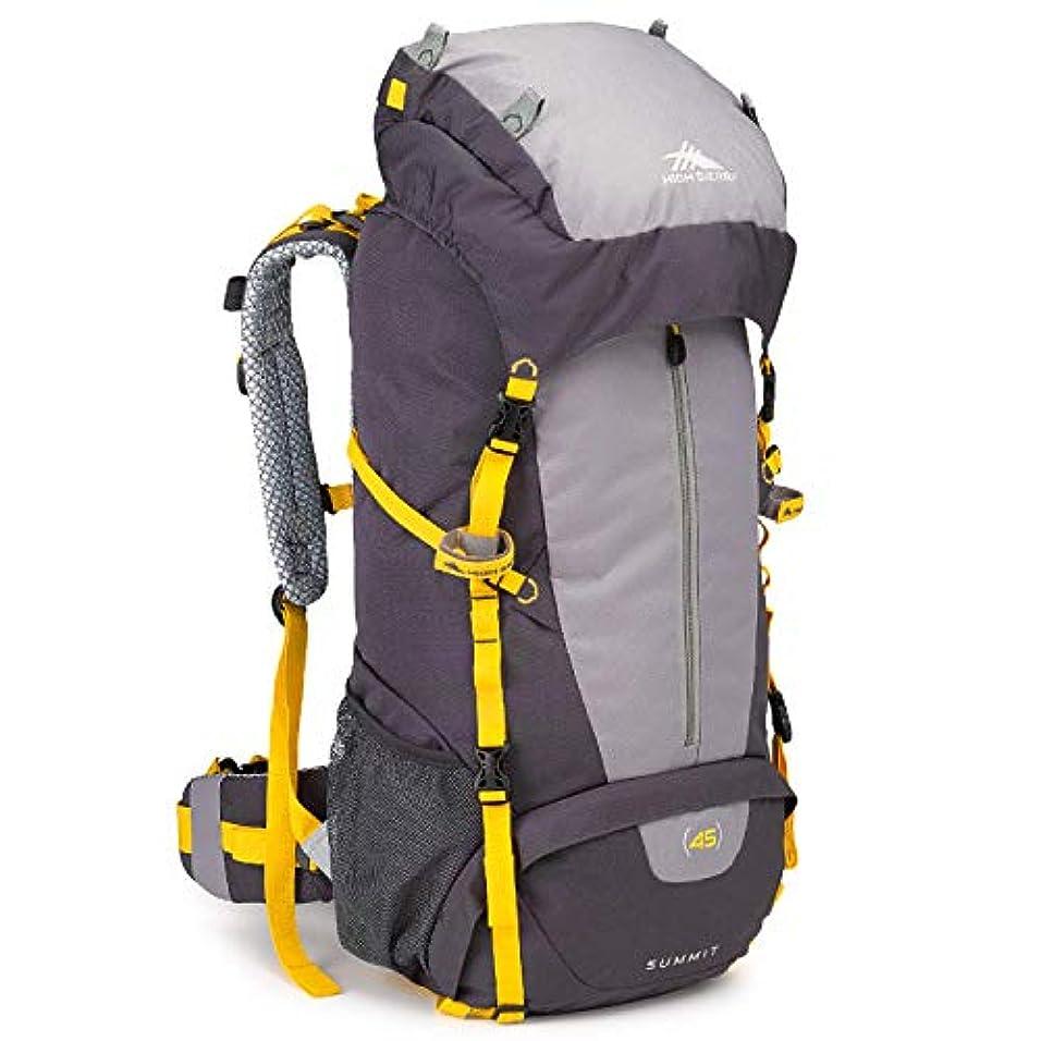 雄大な影響する同化するHigh Sierra Summit 45L Top LoadBackpack Pack, High-Performance Pack for Backpacking, Hiking, Camping, with Rain Fly, Mercury/Ash/Yell-O [並行輸入品]