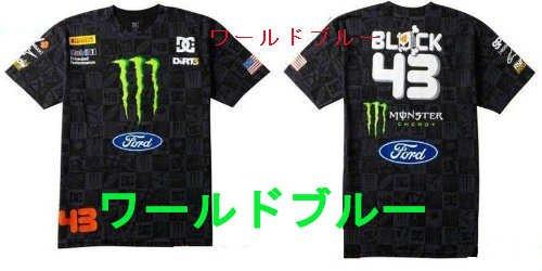Tシャツ オートバイ WRC ケンブロック (KEN2-B, S)