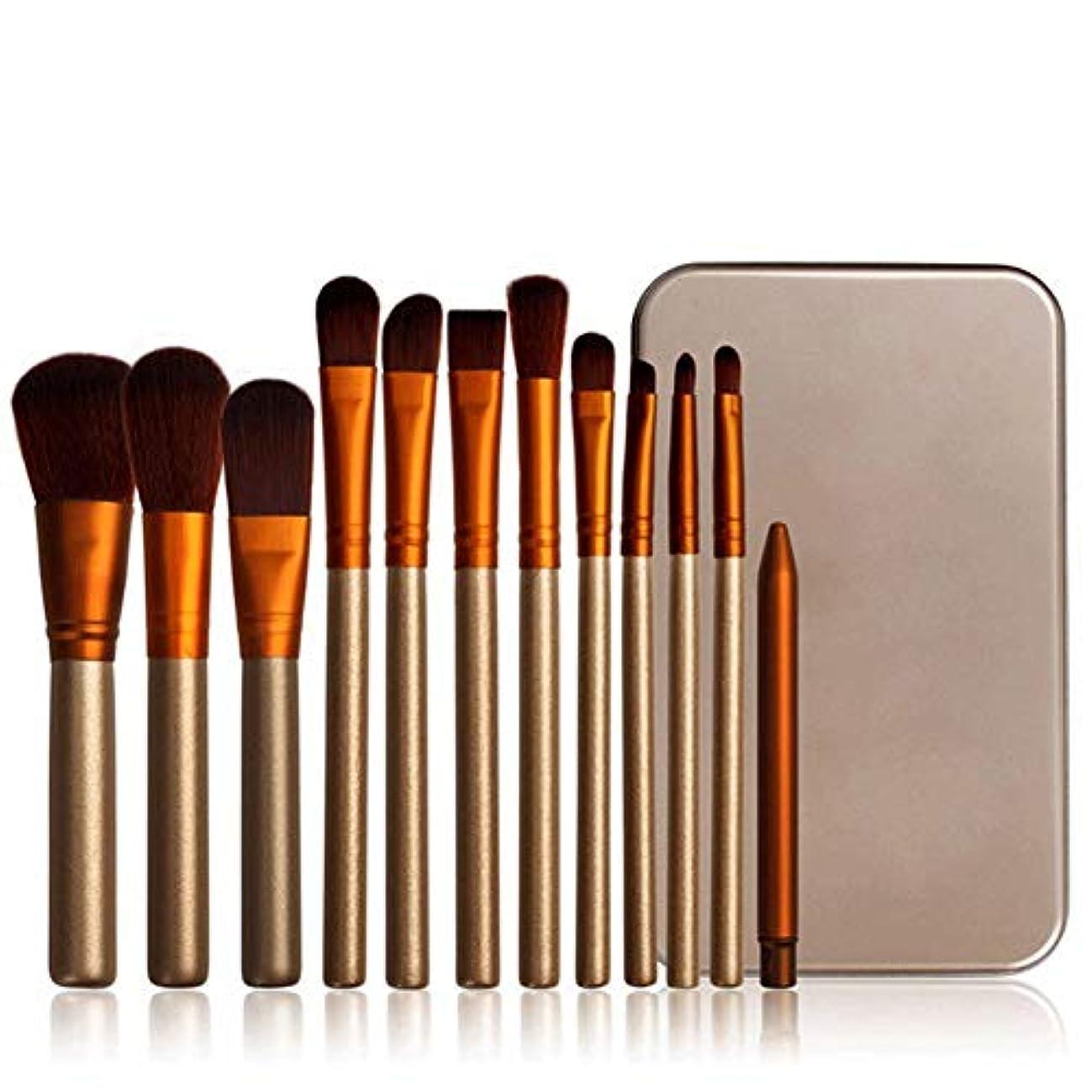 Rabugogo 12個/セットメイクブラシセットフェイス化粧品アイシャドウファンデーションブラッシュブラシ