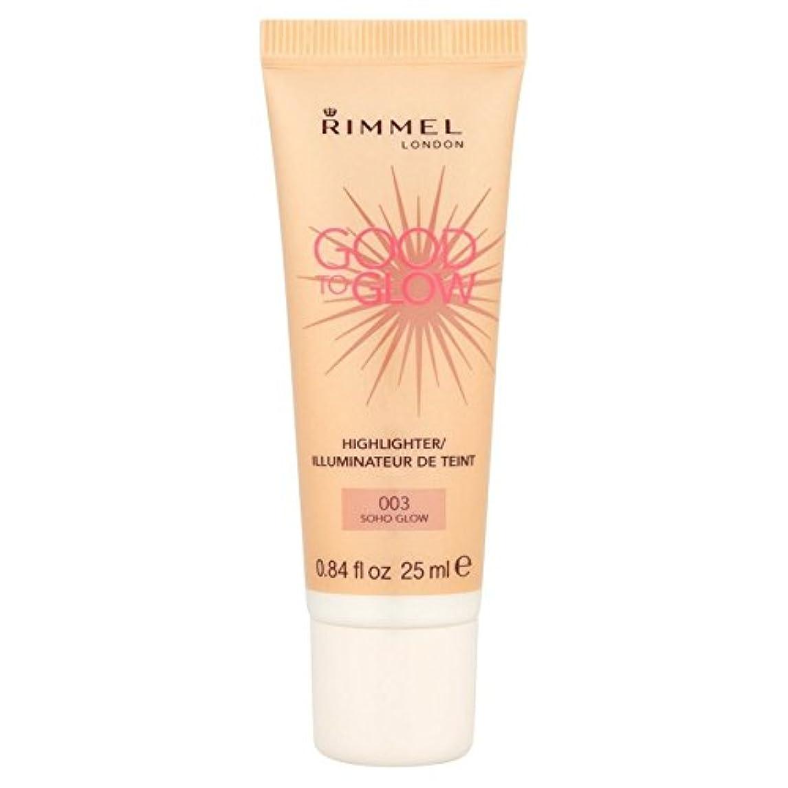 リラックスしたタンク薬を飲むRimmel Good To Glow Illuminator, Soho Glow 25ml (Pack of 6) - 照明グローてもいいリンメル、グロー25ミリリットル x6 [並行輸入品]
