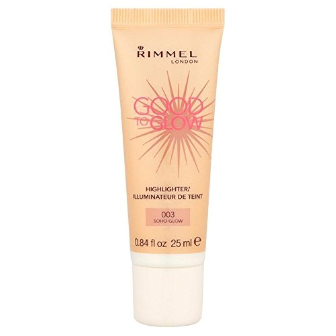 耳除外する中性照明グローてもいいリンメル、グロー25ミリリットル x4 - Rimmel Good To Glow Illuminator, Soho Glow 25ml (Pack of 4) [並行輸入品]