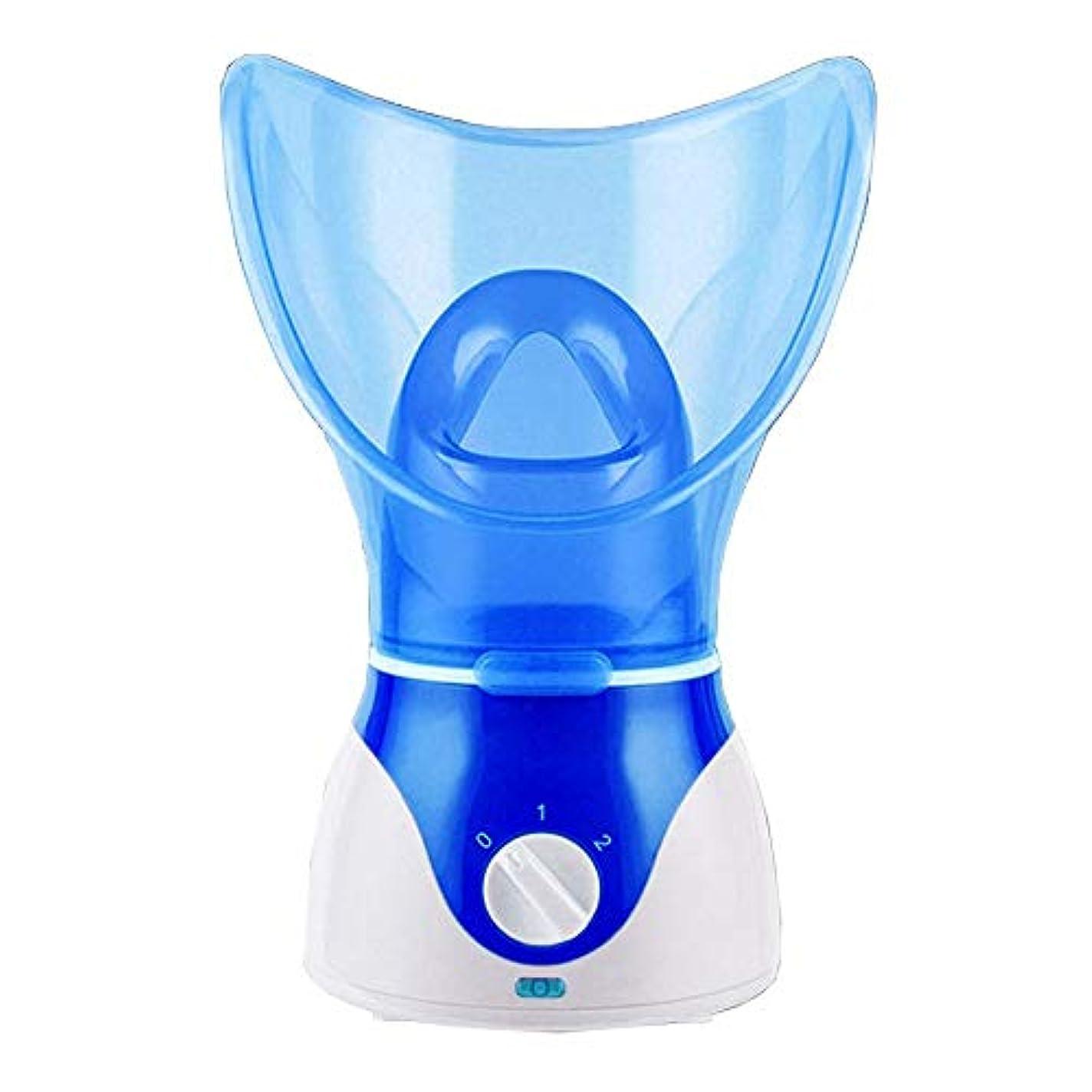 ブルームセグメントゴシップYalztc-zyq16 解毒の若返りのナノ汽船の美の器械の顔の加湿器、紫色を白くする携帯用再充電可能な蒸気の顔の水和のスプレーヤー (Color : Blue)