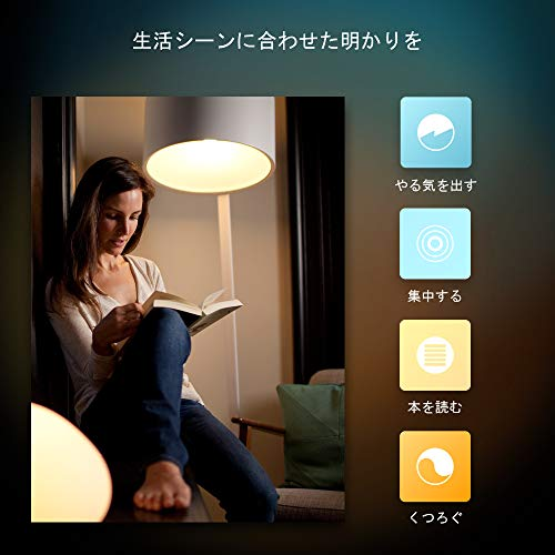 『Philips Hue (ヒュー) ホワイトグラデーション 3個セット【Amazon Echo、Google Home、Apple HomeKit、LINE対応】』の3枚目の画像