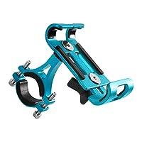 アルミ合金の自転車電話ホルダー3.5-6.5,Blue