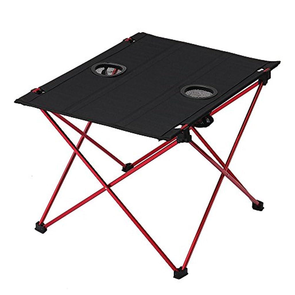 損なう医薬直面するWalmeck アウトドア 折りたたみ式 キャンプ ピクニック テーブル 多目的 ポータブル コンパクト 軽量 折りたたみ ロールアップ テーブル