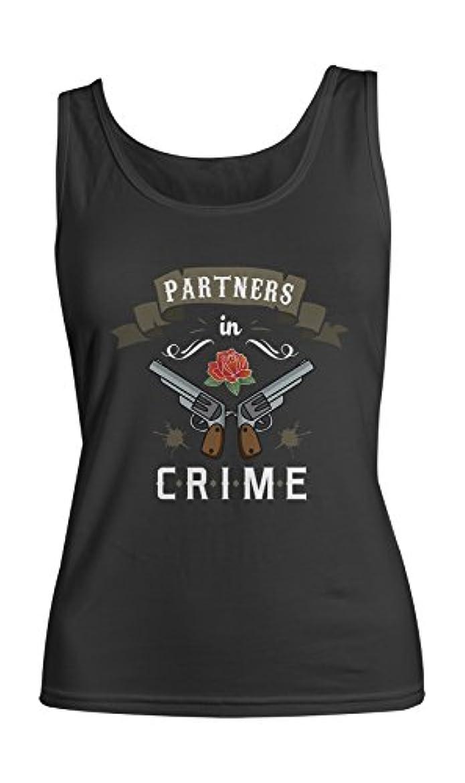 汚染された体操選手早めるPartners In Crime Pistols Rose Best Friends レディース Tank Top Sleeveless Shirt